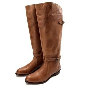 • Frye • Dorado Lug Riding Boots Cognac 6 Brown